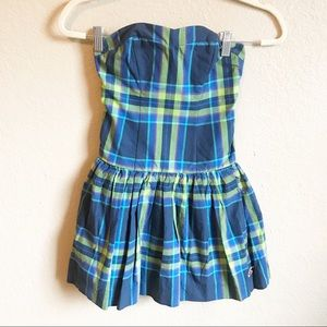 Hollister Strapless Plaid Dress Size XS